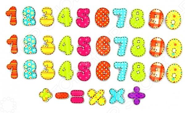 Игра развивающая Мастер игрушек «Магниты: Учимся считать»Другие обучающие и развивающие игры<br>Игра развивающая Мастер игрушек Магниты: Учимся считать это отличная возможность в игровой форме обучить малыша цифрам, счету от 1 до 10 и простым арифметическим действиям. В игровой набор входят три комплекта цифр и шесть математических знаков равно, знак умножения, сложения, деления, вычитания и процентов . Изделия выполнены из высококачественных материалов и снабжены магнитами, благодаря чему легко крепятся к холодильнику или к любой другой металлической поверхности.<br>