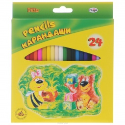 фото Набор карандашей цветных Гамма «Пчелка»: 24 цвета