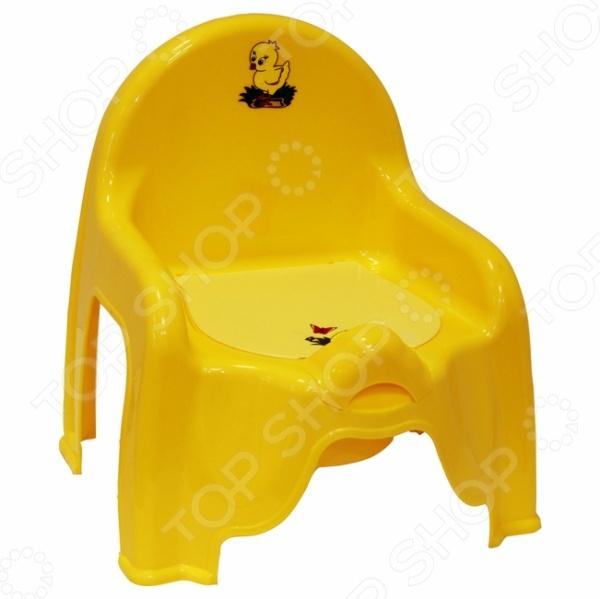 Горшок-стульчик IDEA М 2596 отлично подойдет для приучения малыша к горшку. Модель имеет форму стульчика, выполнена из высококачественного нетоксичного пластика и снабжена спинкой, передним ограничителем и крышкой. Во избежание травмирования малыша, все края горшка закруглены.
