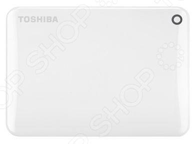 Внешний жесткий диск Toshiba Canvio Connect II 500Gb - удобная и практичная современная модель, станет неотъемлемым атрибутом любого успешного современного человека. Модель сочетает в себе стильный дизайн и компактные размеры. Внешний жесткий диск отлично подходит не только для хранения фильмов, фотографий, музыки, игр, но так же, его можно использовать как внешний загрузчик операционной системы. Это может очень пригодиться, в случае, если произойдут неполадки в работе Windows. Большая вместительность и прочный корпус, позволит надежно хранить всю необходимую информацию в одном месте.