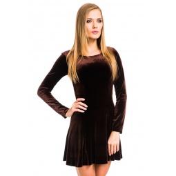 фото Платье Mondigo 7026. Цвет: коричневый. Размер одежды: 48