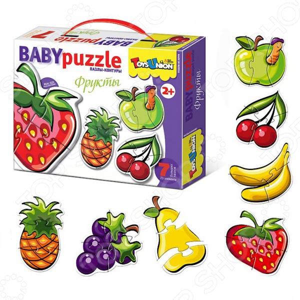 Пазл фигурный Toys Union «Фрукты»Пазлы для малышей<br>Пазл фигурный Toys Union Фрукты комплект для развлечения и приятного времяпрепровождения. Собрав этот пазл можно выучить названия фруктов. А если вы испытываете трудности при сборке, то в комплекте предоставляется наглядная инструкция. Сборка способствует развитию зрительной координации, воображения. Также тренируется наблюдательность, образное восприятие и логическое мышление. Преимущества:  Интересный процесс.  Качественные детали.<br>