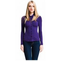 фото Блузка Mondigo 517. Цвет: темно-фиолетовый. Размер одежды: 42