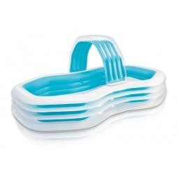 фото Бассейн надувной детский Intex со спреем «Семейный»