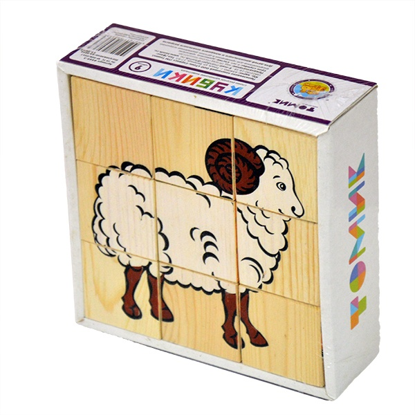 Кубики Томик Домашние Животные развивающие деревянные игрушки кубики животные