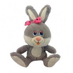 фото Мягкая игрушка интерактивная Maxi Play «Зайка Милашка с розовым бантиком»