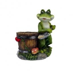 фото Кашпо декоративное Valenсia «Лягушка-копатель»