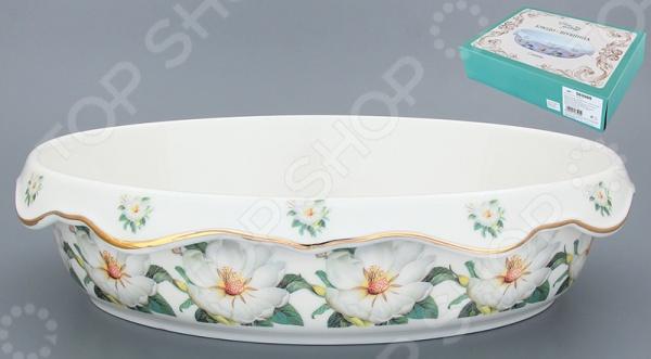 Блюдо-шубница Elan Gallery «Белый шиповник» 503594 elan gallery блюдо бабочки