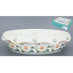Купить Блюдо-шубница Elan Gallery «Белый шиповник» 503594