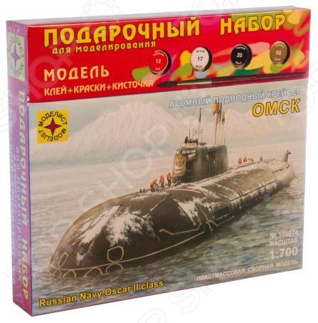 Сборная модель подводной лодки Моделист «Атомный крейсер Омск»