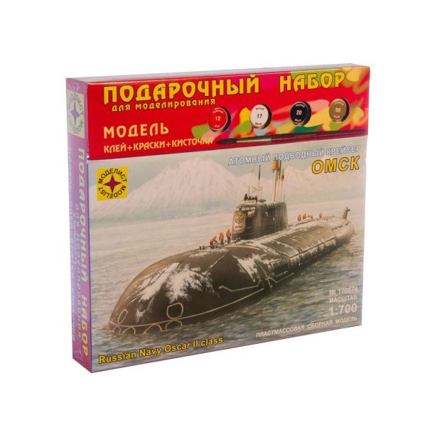 фото Сборная модель подводной лодки Моделист «Атомный крейсер Омск»