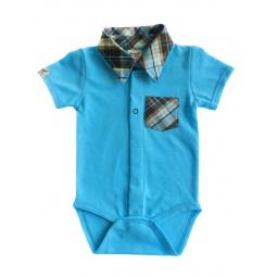 фото Боди-сорочка для новорожденных Ёмаё. Цвет: голубой. Размер: 44