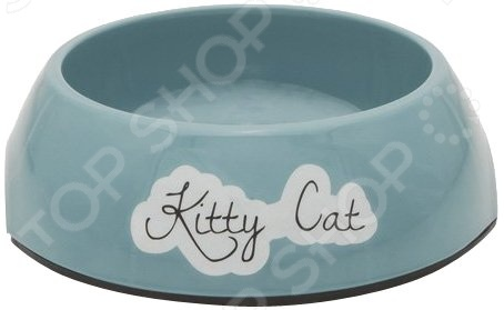 Миска для кошек нескользящая Beeztees Rounded. Kitty Cat