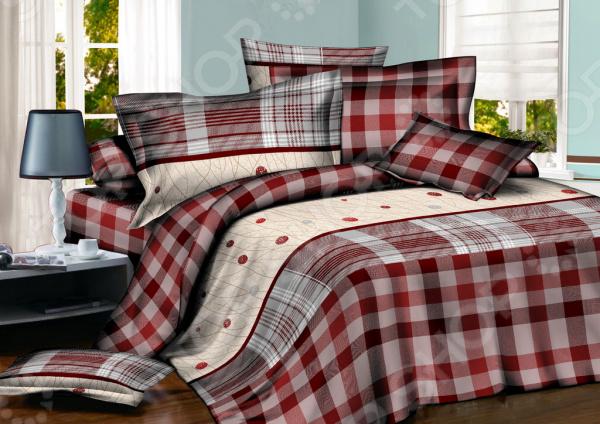 Комплект постельного белья BegAl ВТ001-СА573. 1,5-спальный1,5-спальные<br>Комплект постельного белья BegAl ВТ001-СА573 оптимальный выбор для современной спальни. Комплект произведен из поплина 100 хлопковой ткани. Материал приятный на ощупь, не требует специального ухода. Выдерживает множество стирок и хорошо держит форму. Преимущества:  Легко стирать и гладить, не беспокоясь о потере формы.  Показатели усадки минимальны, поэтому белье всегда будет соответствовать заявленным размерам.  Поплин обладает высокой стойкостью к бытовому трению, поэтому выдерживает множество стирок. Уход: Стирать при температуре 60 С. Не отбеливать. Сушка в стиральной машине при нормальной температуре. Гладить можно при высокой температуре при 200 С. Химическая чистка запрещена.<br>