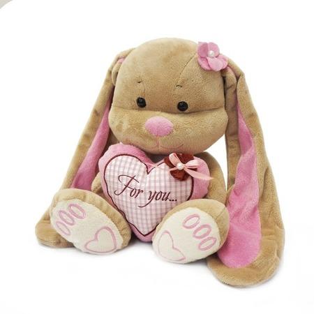 Купить Мягкая игрушка Jack and Lin Зайка Лин с сердцем