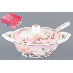 Купить Баночка для специй с ложкой Elan Gallery «Орхидея на розовом»