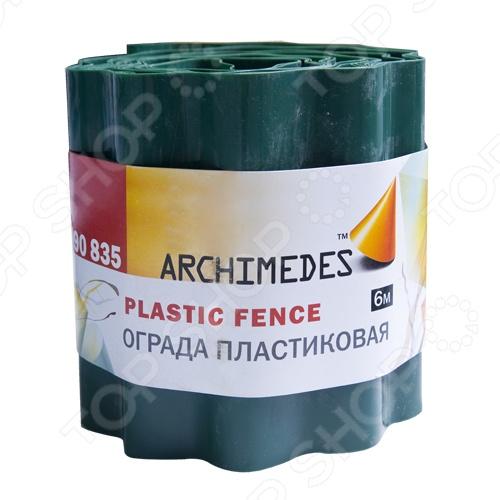 Ограда пластиковая Archimedes 90835Декоративные ограждения для сада<br>Ограда пластиковая Archimedes 90835 будет просто незаменима при работах в саду или огороде. Изделие изготавливается из прочного и устойчивого к влаге материала, что гарантирует длительный срок службы и отсутствие негативного влияния на растения. Длина ограды 6 м.<br>