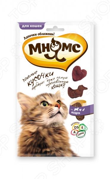 Лакомство для кошек Мнямс 700453 «Мясное ассорти»