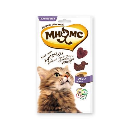 Купить Лакомство для кошек Мнямс 700453 «Мясное ассорти»