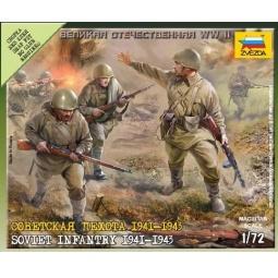 фото Сборная модель Звезда Советская пехота 1941-1943 годов