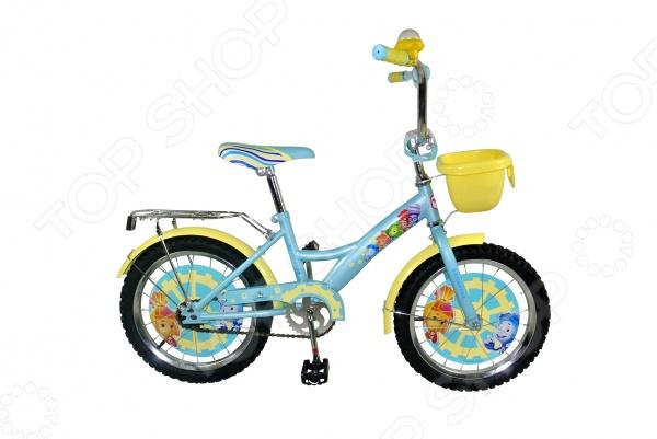 Велосипед детский Navigator «Фиксики» KITEВелосипеды подростковые и детские<br>Велосипед детский Navigator Фиксики KITE с ярким дизайном, который не только поможет замечательно провести время, но и принесет пользу здоровью. Велосипед отличается надежностью, высоким качеством и легкостью управления. Рама велосипеда изготовлена из металла, сидение достаточно удобное и широкое. Оснащен дополнительными колесами для балансировки и предотвращения падений. Цепь прикрыта планкой, чтобы штанишки на затянуло во время езды.<br>