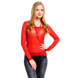 фото Кофта Mondigo 192. Цвет: красный. Размер одежды: 46