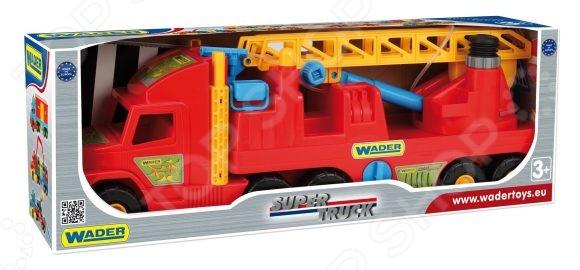 Машинка игрушечная Wader «Пожарная» Super Truck игрушка wader super tech truck c грузовиком 36710