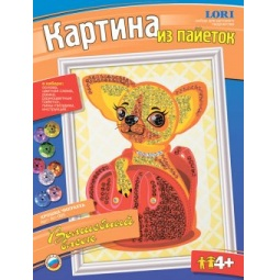 Купить Картина из пайеток Lori «Крошка чихуахуа»