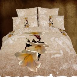 фото Комплект постельного белья Domomania Adelia. Satin Fotoprint. Евро