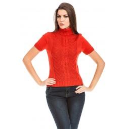 фото Свитер вязаный Mondigo 9004. Цвет: терракотовый. Размер одежды: 44