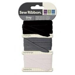 фото Набор декоративных лент We R Memory Keepers SewRibbon. Цвет: серый