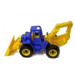 фото Машинка игрушечная Нордпласт «Трактор Ангара с грейдером и ковшом»