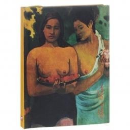 фото Поль Гоген. Две девушки с цветами манго. Блокнот (коричневая бумага)