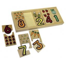 фото Пазл для малышей Mapacha «Фрукты и цифры»