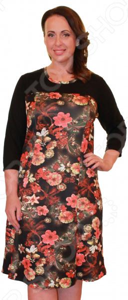 Платье Элеганс «Лауретта»Повседневные платья<br>Платье Элеганс Лауретта это легкое платье, которое поможет вам создавать невероятные образы, всегда оставаясь женственной и утонченной. Благодаря полуприталенному силуэту оно скроет недостатки фигуры и подчеркнет достоинства. В этом платье вы будете чувствовать себя блистательно как на работе, так и на вечерней прогулке по городу.  Универсальная длина чуть ниже колена и слегка приталенный силуэт скрывают недостатки и подчеркивают достоинства, поэтому платье подходит женщинам с любой фигурой.  Платье идеально для торжественного вечера, оно будет также хорошо смотреться в офисе или во время летней прогулки.  Рукава 3 4 скрывают несовершенства в области плеч и подойдут для любой полноты рук.  Круглый вырез горловины, декорированный тесьмой, визуально удлиняет шею и украшает область декольте. Платье изготовлено из трикотажной ткани Водолаз . Ткань водолаз прекрасно тянется, так как изготовлена на 100 из полиэстера. Поверхность материала идеально ровная и гладкая, может иметь различные оттенки. При этом сам цвет отливается матовым, что придает любому изделию яркий и эксклюзивный вид. Рукава из трикотажа 100 полиэстер . Швы обработаны эластичными нитями, поэтому не натирают кожу.<br>