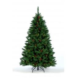 Купить Ель искусственная Crystal Trees «Европейская с шишками»