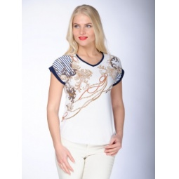 фото Футболка женская BeGood SS15-UKN-LTS-916. Цвет: белый. Размер одежды: 52