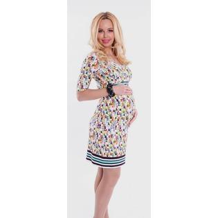 Купить Платье для беременных Nuova Vita 2108.02. Цвет: коричневый