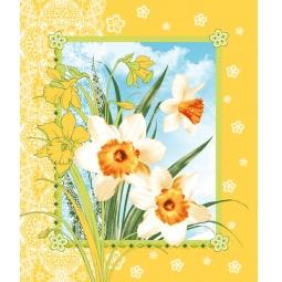фото Полотенце вафельное ТексДизайн «Цветы весны»