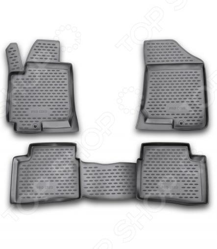 Комплект ковриков в салон автомобиля Novline-Autofamily KIA Pro Ceed 3D 2008Коврики в салон<br>Комплект ковриков в салон автомобиля Novline Autofamily KIA Pro Cee 39;d 3D 2008 поможет обеспечить чистоту и комфортные условия эксплуатации вашего автомобиля. Используйте эти коврики, чтобы защитить оригинальное покрытие пола от грязи, пыли, пятен и воздействия влаги. Изделия созданы из экологически чистого полимерного материала, прошедшего строгий гигиенический контроль. Оцените основные преимущества полиуретановых ковриков Novline:  Нейтральность к агрессивному воздействую различных химических сред.  Высокая устойчивость к значительным перепадам температур в диапазоне от -50 до 50 C .  Устойчивость к воздействию ультрафиолетовых лучей.  Значительно легче резиновых аналогов. Легко очищаются от грязи, обладают повышенной износостойкостью.  Свойства материала и текстура поверхности коврика обеспечивают противоскользящий эффект.  Форма ковриков разработана с учетом особенностей конкретной марки и модели автомобиля применяется технология 3D-сканирования для максимальной точности , что избавляет владельца от необходимости их подгонки под салон своей машины. Коврики надежно фиксируются на своих местах и не смещаются.  Передняя часть водительского ковра имеет специальную форму, исключающую зацепление педали за изделие.<br>