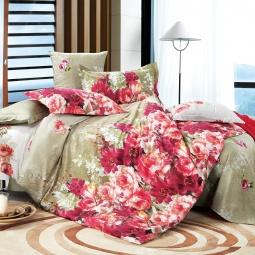 фото Комплект постельного белья Amore Mio «Голубая мечта». Provence. Семейный