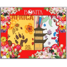 фото Комплект из 2-х разнофактурных полотенец подарочный BONITA «Путешествие»