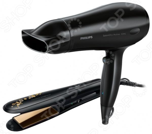 Набор Philips: Фен и выпрямитель для волос HP 8646/00. Уцененный товар