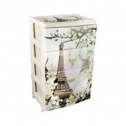 Купить Комод 4-х секционный широкий Альтернатива «Весна в Париже»