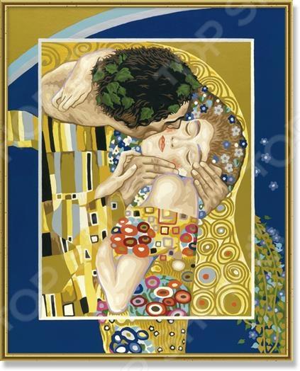 Набор для рисования по номерам Schipper Репродукция «Поцелуй» Густав Климт шкатулка густав климт поцелуй 6 х 4 см ручная авторская работа