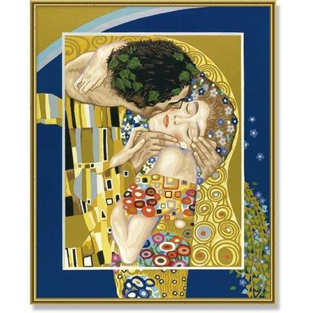 Купить Набор для рисования по номерам Schipper Репродукция «Поцелуй» Густав Климт