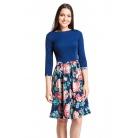 Фото Платье Mondigo 5161. Цвет: темно-синий. Размер одежды: 46