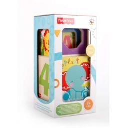 Купить Набор из 4-х кубиков-сортеров и формочек Fisher Price ФП-1005