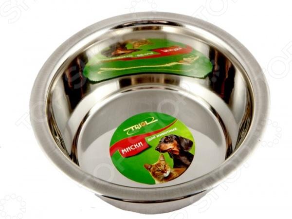 Миска для собак TRIOL металлическая