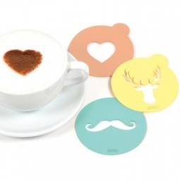 Купить Набор трафаретов для кофе Doiy Hip Coffee